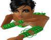 Neon green armbands