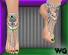 Jeweled Anklet Green