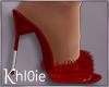K red fur heels