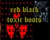 black red toxic boots