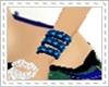 D*blue bling bangle L