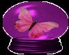 pink butterfly/globe