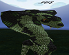 GreenBlack Snake Head