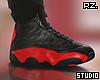 rz. Black Red Sneakers
