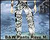 Rave B&W Anim Pants