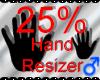 *M* Hand Scaler 25%