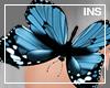 *In* Hand Blue Butterfly