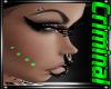 Green Cheek Studs