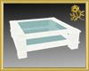 Wicker Glass Table