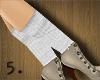 5. Hockey Socks ~ White