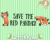 Red Panda Cutie Headsign
