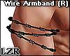 Wire Armband Black (R)