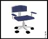 [EDJ]Blue&ChromePC Chair
