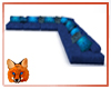 """Blue """"L"""" Shaped Couch"""