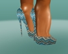 Teal and Gold Pumps