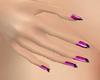820 Pink & Black Nails