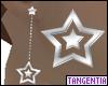 Star Drop Silver Earring