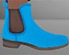 Light Blue Ankle Boots M