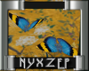 Butterfly Teal/Gold Anim