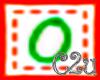 C2u letter O Sticker