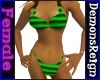 Bikini -Grn/Blk Striped