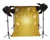 Gold star backdrop