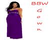 BBW  Purple wedding gown