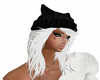 White hair black hat