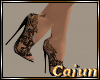 Black Filagree Heels