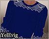 [Y] Blue sweater M