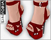 ::S::Diamond Sandals Red