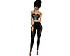 Catsuit latex black