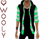 Jacket sweater vest gree