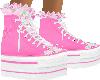 pink hightop tennis shoe
