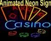 (J) Neon Casino Sign