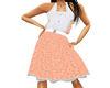 (1NA) Orange Dress