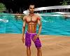 Bea's men purple swiming