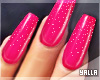 GEL Coffin Nails HOTPINK