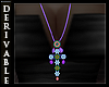 *F* Jewel Cross Necklace