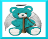 teal n white angel bear