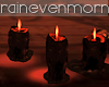 Red Melted Candles