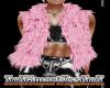 Pink  Fur Layerable Vest