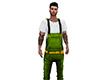 Green Denim Overalls (M)
