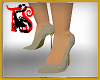 TS Cream Glitter Heels
