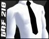White Office Shirt + Tie
