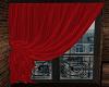 Red Paris Curtain