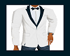 White & Teal Tux Jacket