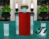 Wedding Pedestal Teal