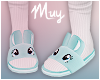 ! Bunny slippers (blue)