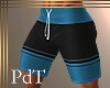 PdT Turq&Blk Boardies4 M